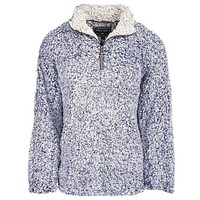 The Original Frosty Tipped Pile 1/2 Zip Pullover in Vintage Blue by True Grit