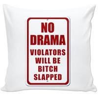 No drama couch pillow