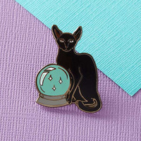 Fortune Teller Cat -- Enamel Pin