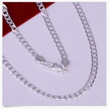 Gentle Men Trendy Nice Silver Link Chain Charming Necklace SM6