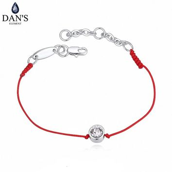 2 Colors Austrian Crystal  jewelry thin red thread string rope Charm Bracelets for women Fashion  summer style 118960