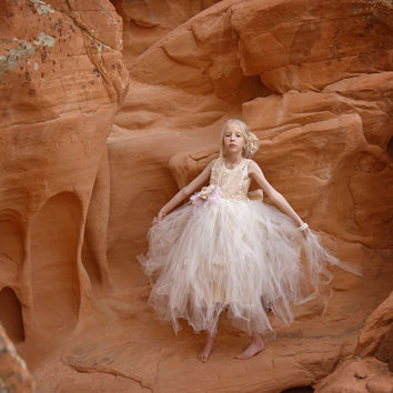 Flower Girl Tutu Dress-Bridal-Photo Prop-April