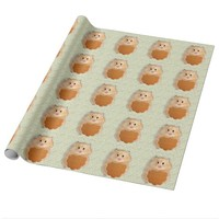 Funny Hamster Character wrapping paper