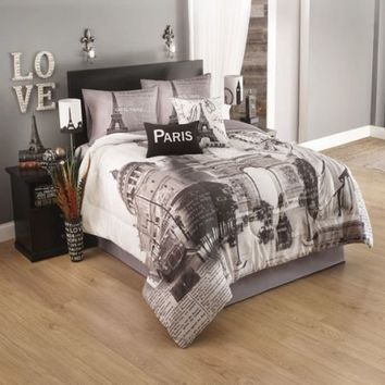 Idea Nuova Paris Postcard Comforter Set Comforter Sets