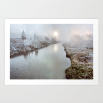Misty Mornin' Art Print by Lena Owens/OLenaArt
