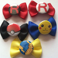 Pokemon - Pokeball - Hairbows  -  choose 5
