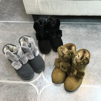 CUGEGE: ugg boots boots and thicken cotton shoes in women's boots