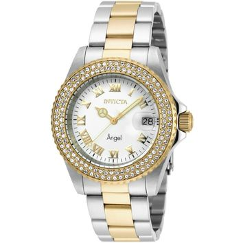 Invicta Women's 20503 Angel Quartz 3 Hand White Dial Watch