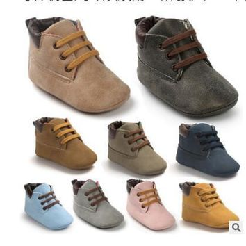 Brand Winter PU Outdoor suede Leather Baby moccasins Shoes infant anti-slip first walker soft soled Newborn Baby boy Boots