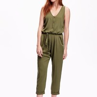 Old Navy Sleeveless Button Front Jumpsuit