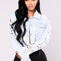 Clara Crop Denim Jacket - Light