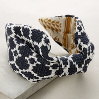 Taiga Turban Headband by Anthropologie in Navy Size: One Size Hair