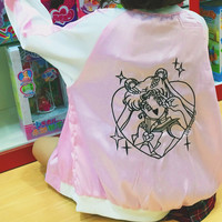Sailor Moon Embroidered Bomber Jacket (M-L)