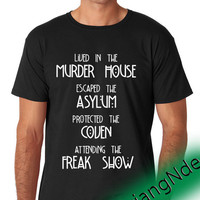 American horror T-shirt High Quality Design in Men's and Women's