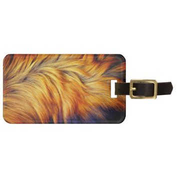 Cool Trendy Brown Horse fur texture design Luggage Tag