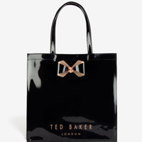 Large bow trim shopper bag - Black | Bags | Ted Baker UK