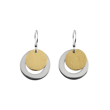 Silver and Gold Vermeil Drop Earrings
