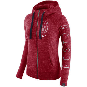 Women's Nike Red Boston Red Sox Vintage Full-Zip Hoodie