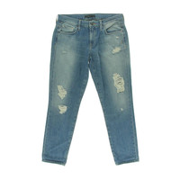 Genetic Womens Alexa Cotton Destroyed Cropped Jeans