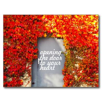 Opening the Door to Your Heart Postcard