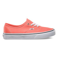 Vans Authentic Girls Shoes Fusion Coral/True White  In Sizes