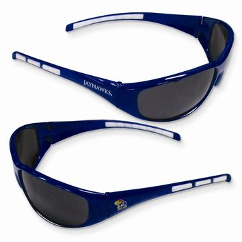Collegiate Kansas Wrap Sunglasses