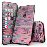 Abstract Wet Paint Pink Sag - 4-Piece Skin Kit for the iPhone 7 or 7 Plus