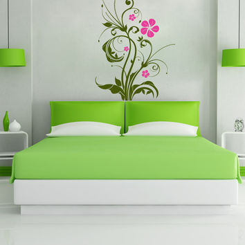 Vinyl Wall Decal Sticker Flower Swirl Plant #1081
