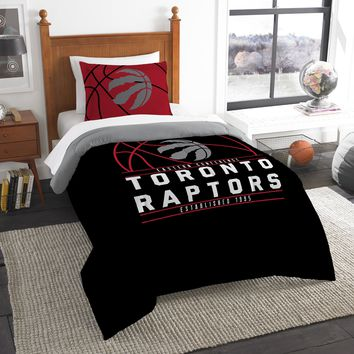 """Raptors OFFICIAL National Basketball Association, Bedding, """"Reverse Slam"""" Printed Twin Comforter (64""""x 86"""") & 1 Sham (24""""x 30"""") Set  by The Northwest Company"""