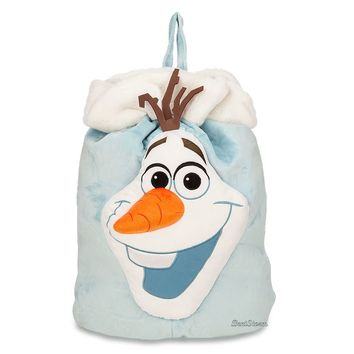 Licensed cool Frozen OLAF SNOWMAN Plush Halloween Candy Sack Gift Bag Tote DISNEY STORE NEW