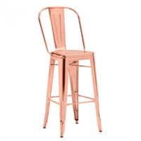 Helio Bar Chair | Rose Gold