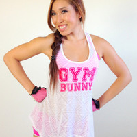 oGorgeous Gym Boutique - Gym Bunny Peek-a-boo Back Tank