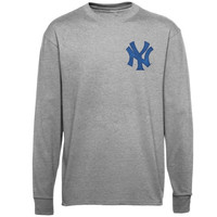 Majestic New York Yankees New Wordmark Long Sleeve T-Shirt - Gray