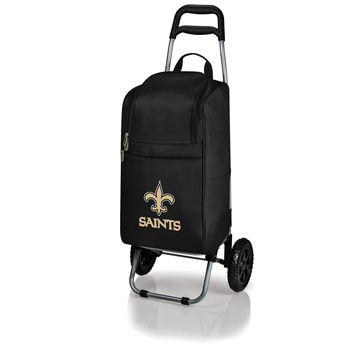 New Orleans Saints - Cart Cooler with Trolley (Black)