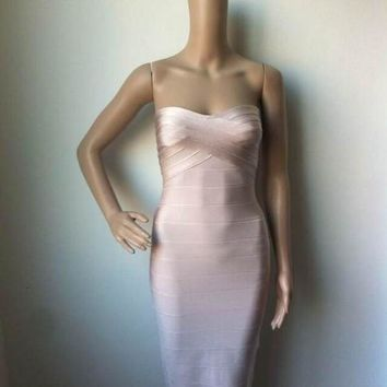 strapless black white hot pink beige red strapless midi ladies sexy bodycon celebrity party bandage dresses