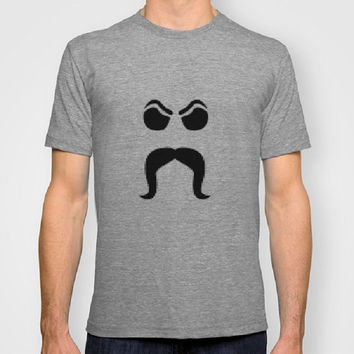 Mustache Lovers 100% Organic tee Mustache with Attitude Graphic Design Men Women Fitted tee Certified Organic Cotton t-shirt Humor tee