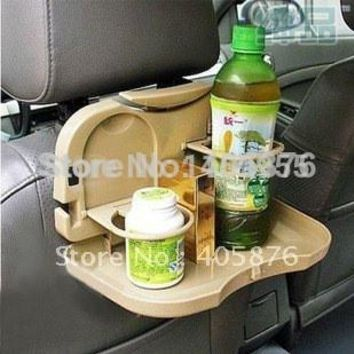 Car Seat Multi Tray mount Food table meal Desk Stand Drink Cup Holder car back seat bracket storage shelves