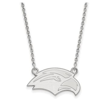 NCAA 10k White Gold Southern Mississippi Small Pendant Necklace