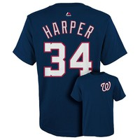 Majestic Washington Nationals Bryce Harper Tee - Boys 8-20, Size: