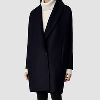 Womens Klein Coat (Ink) | ALLSAINTS.com