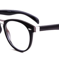 Kathy Eyeglasses with Black Plastic Oval Full Frame/Rim Frame