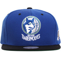 Minnesota Timberwolves NBA 50th Anniversary Snapback Hat Blue
