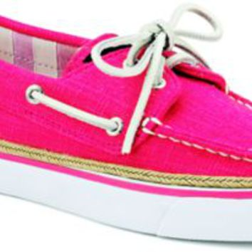 Sperry Top-Sider Bahama Linen 2-Eye Boat Shoe PinkLinen, Size 5.5M  Women's Shoes