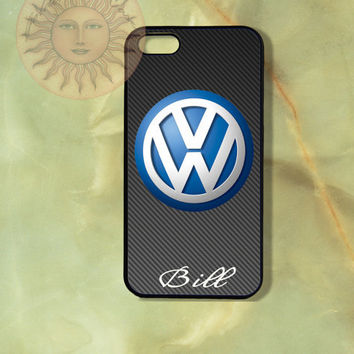 Personalized VW Volkswagen -iPhone 5 case, iphone 4s case, iphone 4 case, Samsung GS3 case-Silicone Rubber or Hard Plastic Case, Phone cover