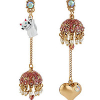 Betsey Johnson Cat & Umbrella Mismatch Earrings | Dillards.com