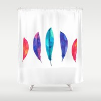 Feather Pizzazz Shower Curtain by Amaya | Society6