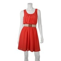 IZ Byer California Pleated Dress - Juniors