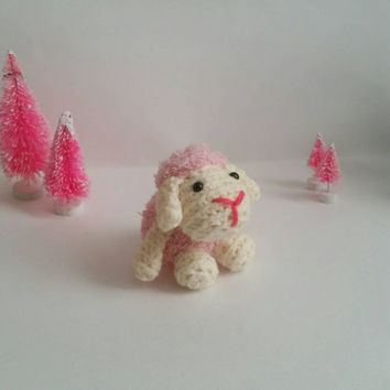 Valentine Lamb Amigurumi Stuffed Animal Baby Sheep Mini Pet Kawaii Chibi Gift Toy Collectible Room Decor