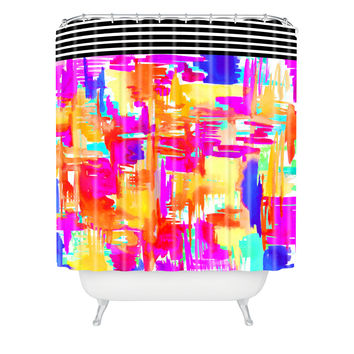 Holly Sharpe Colorful Chaos 1 Shower Curtain