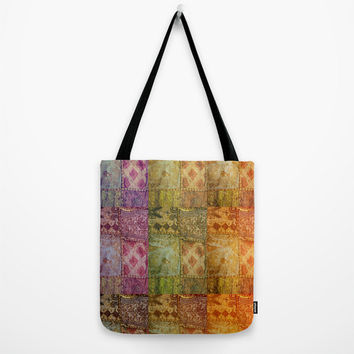 India Tote Bag, Bohemian, Pattern, Ethnic, Travel Bag, Fine Art Photography, Colorful Fabric Bits, Colors, Hippie Bag, Gypsy Style, Boho Bag